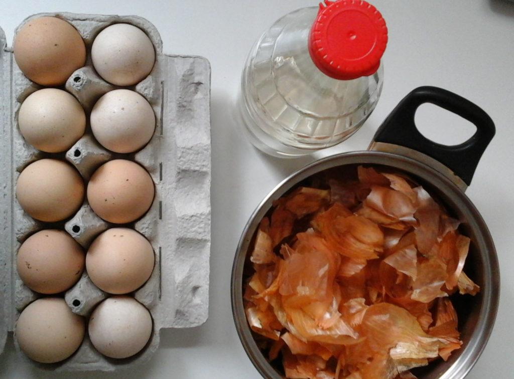 Ekologiczny barwnik do jajek potrzebne materiały